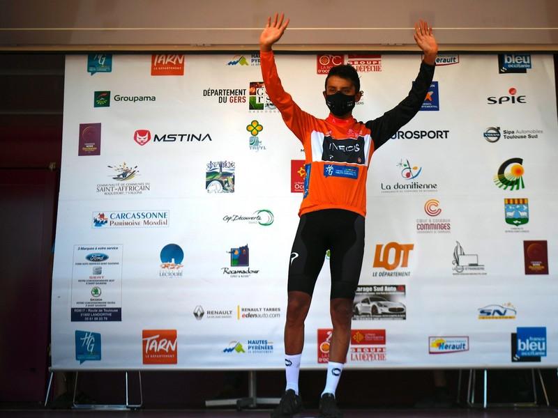 Egan Bernal ako víťaz pretekov Route d'Occitanie