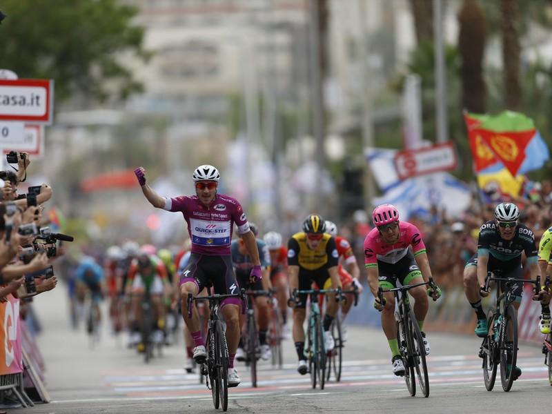 Elia Viviani, víťaz tretej etapy