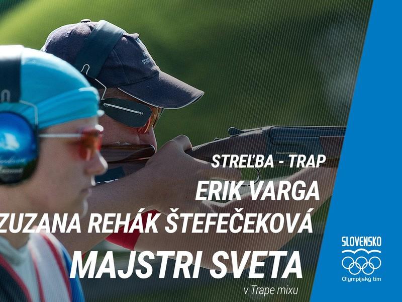 Zuzana Rehák Štefečeková a Erik Varga sa stali majstrami sveta v trape mixu