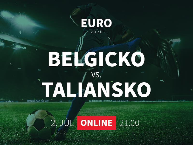 EURO 2020: Belgicko - Taliansko
