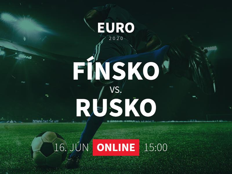 Online prenos z EURO 2020: Fínsko - Rusko