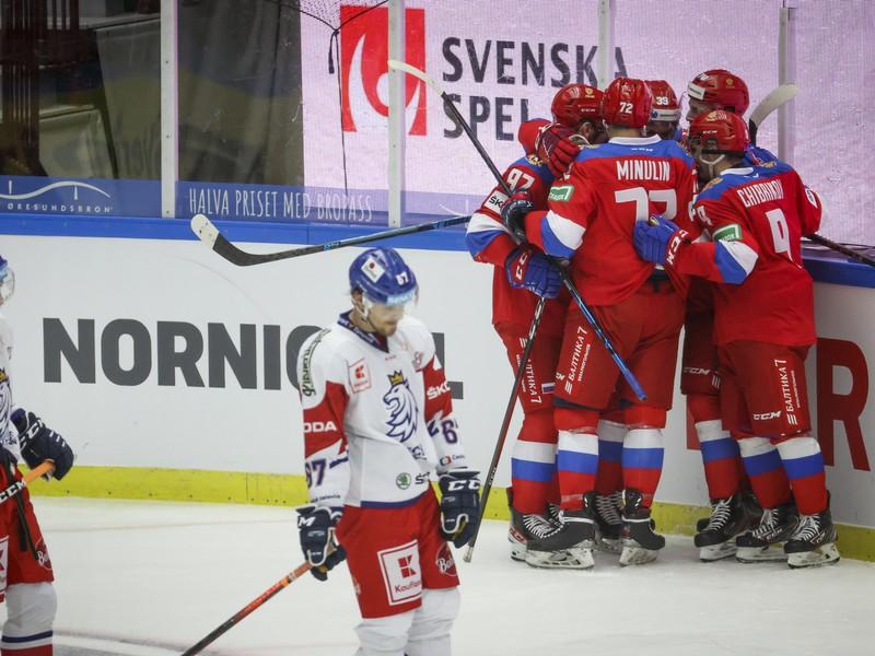 Hokejisti Ruska sa tešia z gólu