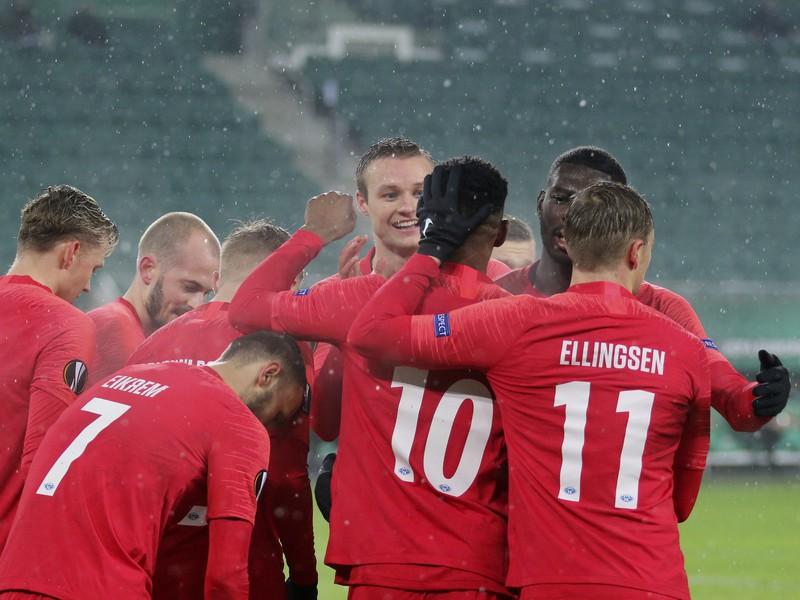 Radosť hráčov Molde FK po góle v Európskej lige