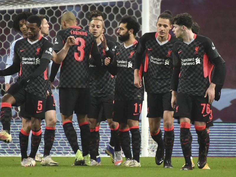 Gólová radosť hráčov Liverpoolu