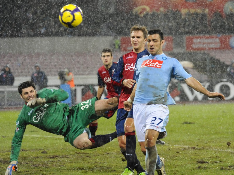 Fabio Quagliarella v drese Neapolu
