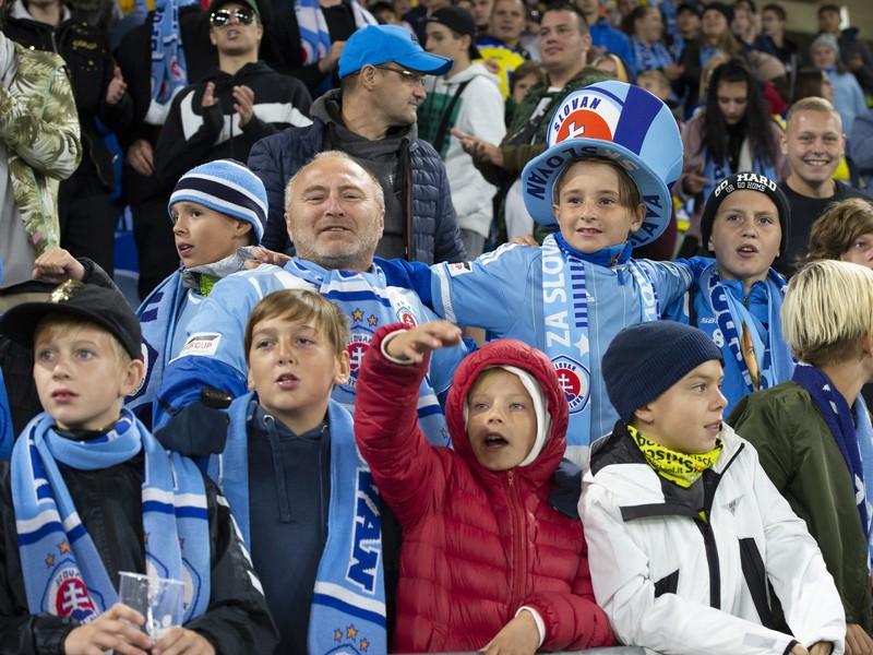 Detskí fanúšikovia boli aj na zápase Slovana Bratislava proti Besiktasu Istanbul