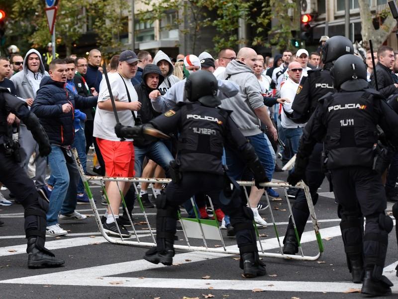 V Madride vyčíňali fanúšikovia Legie Varšava