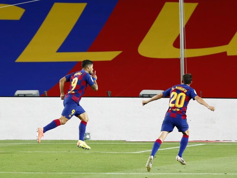 Radosť po góle Luisa Suáreza