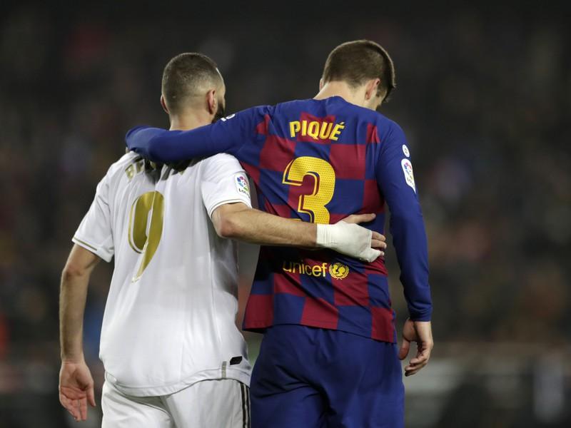 Karim Benzema a Gerard Pique