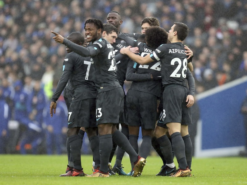 Radosť hráčov FC Chelsea