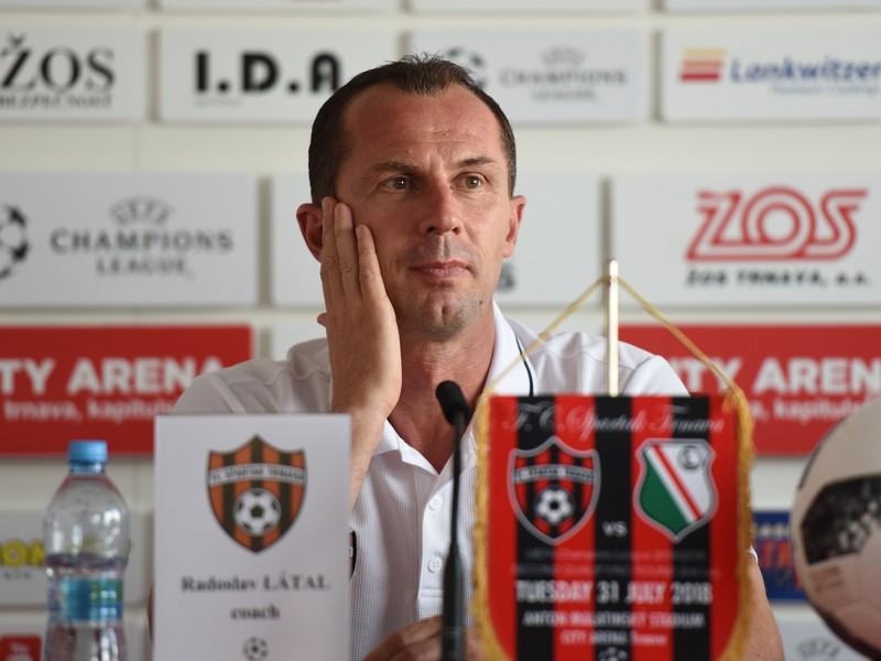 Tréner Trnavy Radoslav Látal