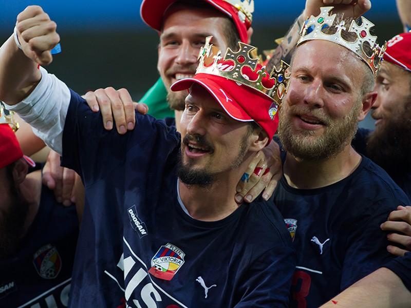 Futbalisti Plzne tretí majstrovský titul venovali chorému Čišovskému