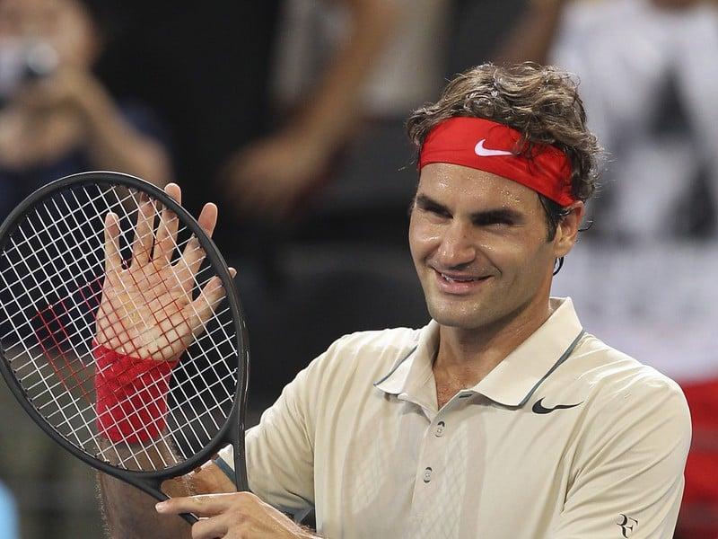 Roger Federer po víťazstve nad Francúzom Chardym