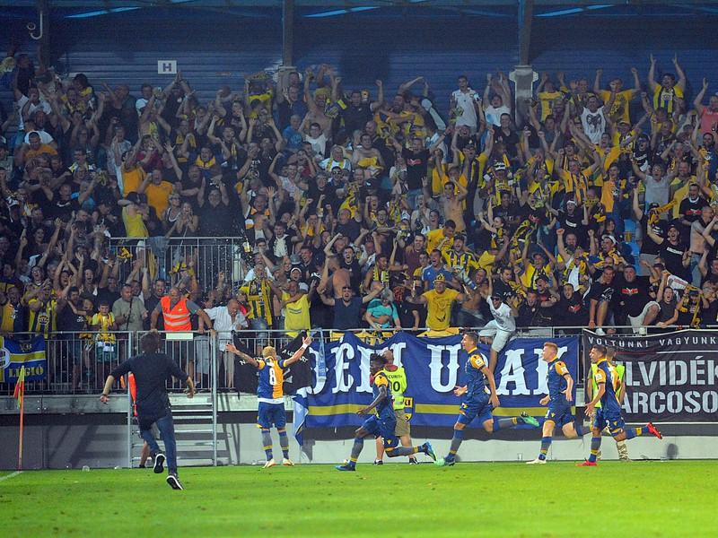 Radosť hráčov FK DAC 1904 Dunajská Streda