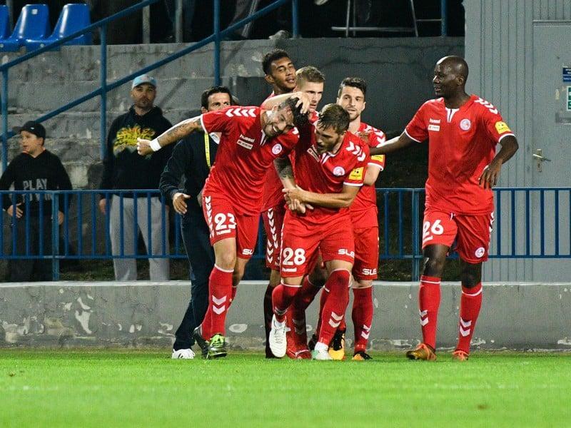 Gólové oslavy futbalistov FK Senica