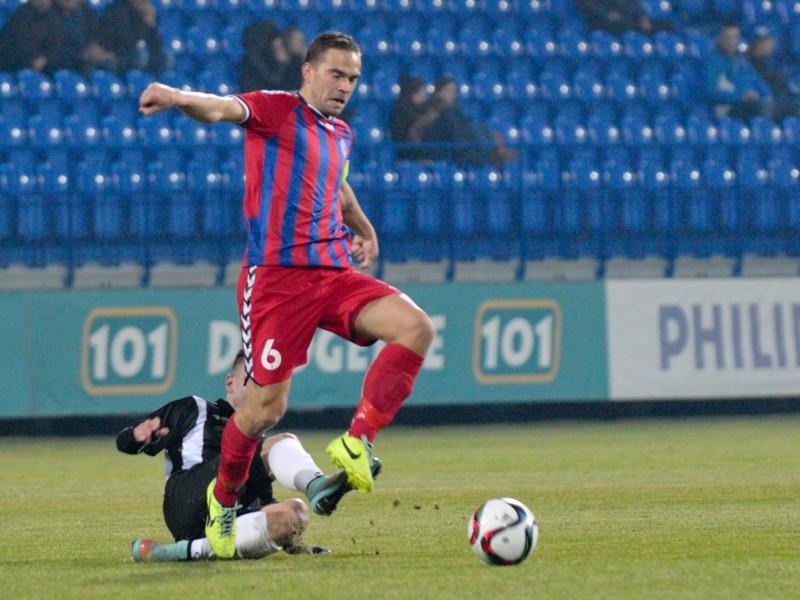 Tomáš Kóňa z FK Senica a Denis Duga zo Spartak Myjava