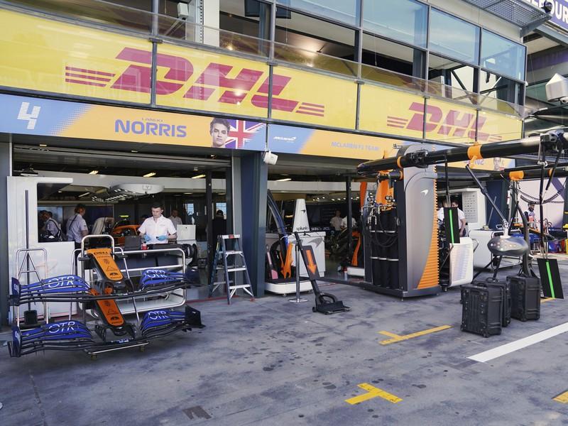 Garáž McLarenu na Veľkej cene Austrálie