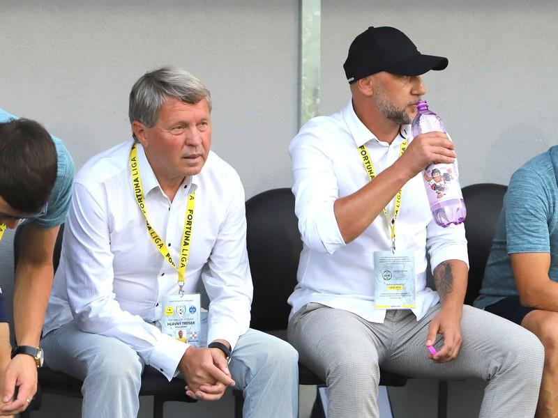 Tréneri FK Pohronie zľava Milan Nemec a Rastislav Urgela