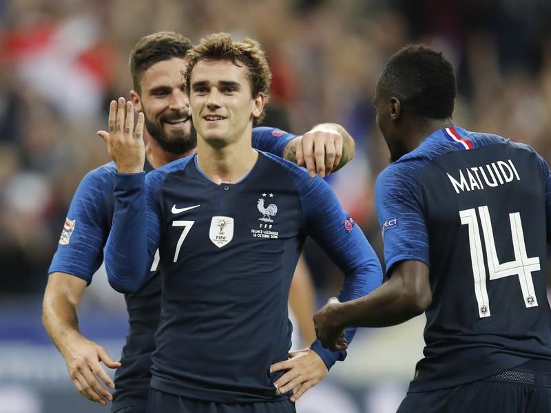 Antoine Griezmann a jeho gólové oslavy so spoluhráčmi