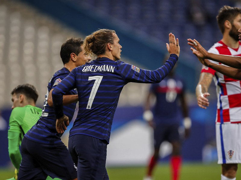 Radosť po góle Antoina Griezmanna