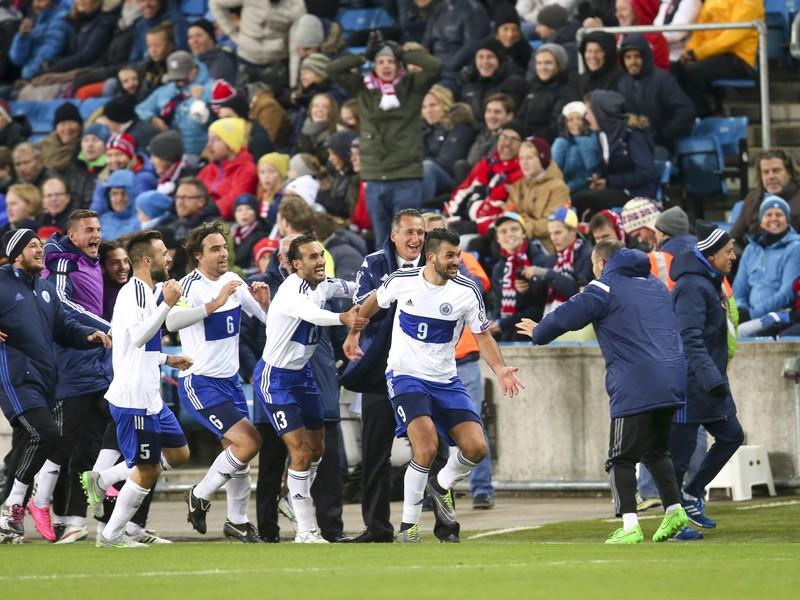 Gólová radosť hráčov San Marína