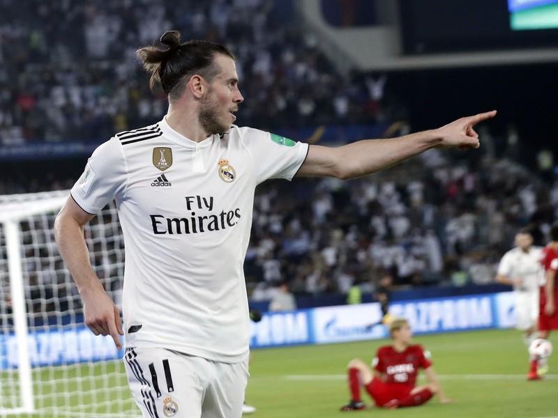 Gareth Bale oslavuje gól