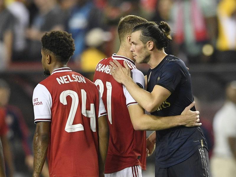Gareth Bale v priateľskom zápase medzi Realom a Arsenalom