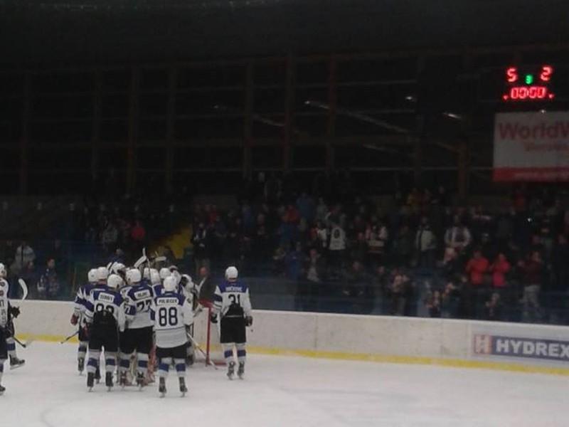 Víťazné oslavy hokejistov HC 07 Orin Detva