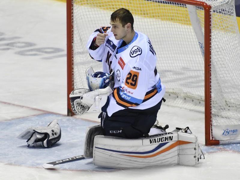 Na snímke brankár Andrej Košarišťan (HC Košice)
