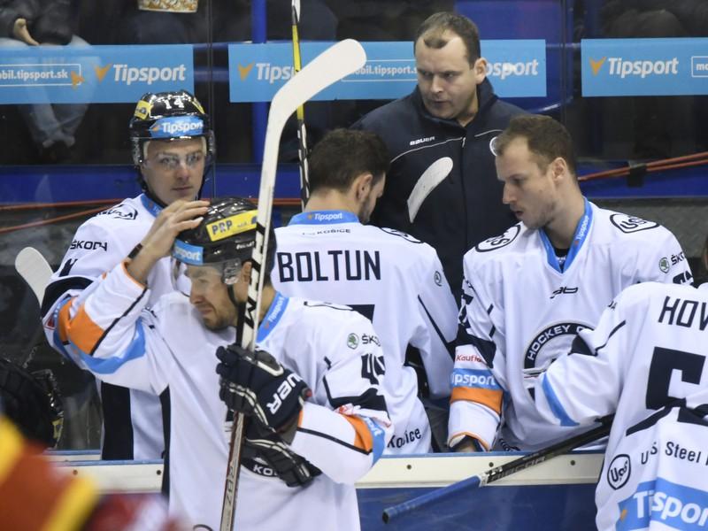 Pohľad na striedačku HC Košice