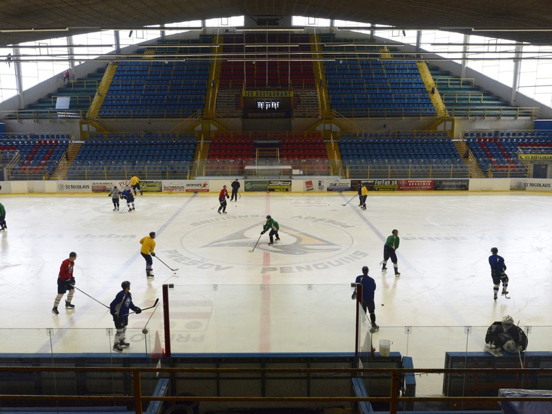 Snímka z tréningu hokejistov HC Prešov Penguins
