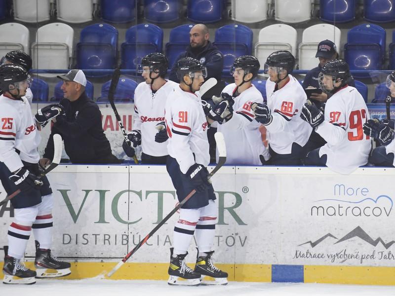 Gólová radosť hráčov HC Slovan Bratislava