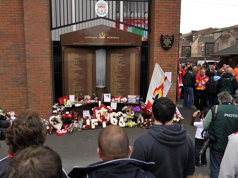 Pamätník tragédie pri štadióne Anfield Road