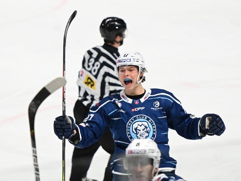 Radosť hráča Nitry Daniila Fominycha po strelení gólu