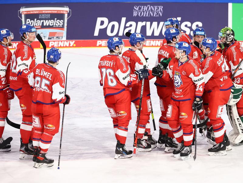 Víťazné oslavy hokejistov Česka
