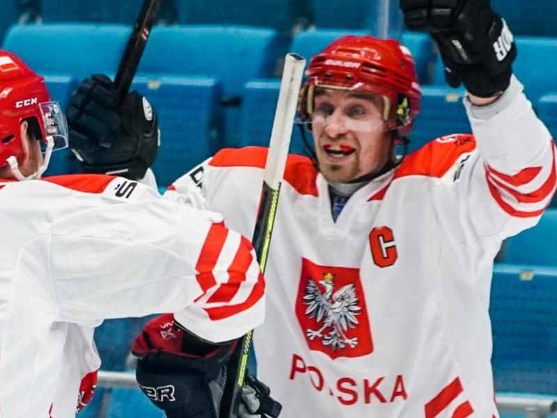 Radosť hokejistov Poľska