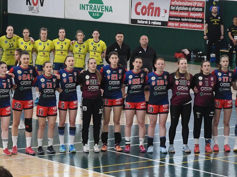 Družstvá Michaloviec a Prešova pred zápasom