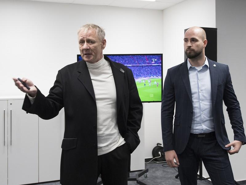 podnikateľ Ivan Kmotrík starší a vpravo jeho syn, viceprezident a generálny riaditeľ ŠK Slovan Bratislava Ivan Kmotrík ml.