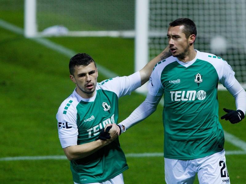 Ivan Schranz sa raduje z gólu v drese Jablonca