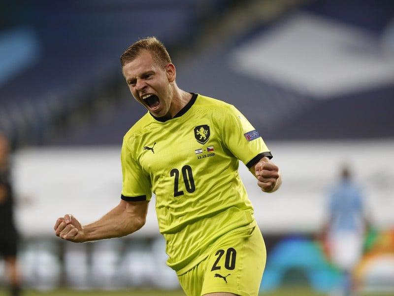 Matěj Vydra sa teší z gólu
