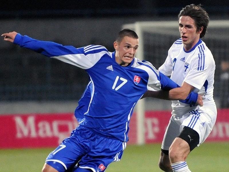 Jakub Vojtuš v drese reprezentácie Slovenska do 21 rokov
