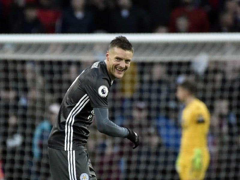 Jamie Vardy oslavuje gól