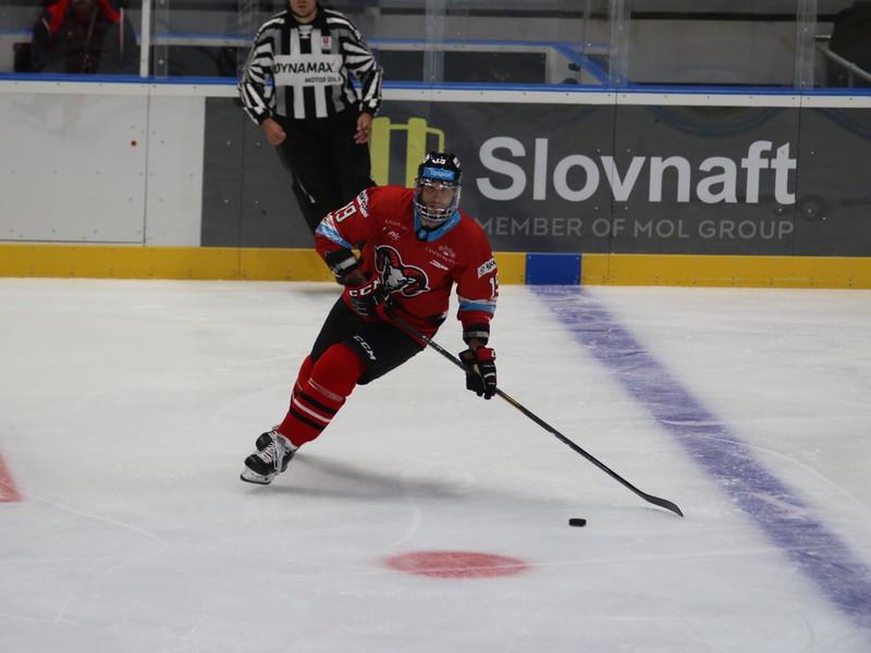 Ján Brejčák z HC '05 Banská Bystrica počas hokejového zápasu 5. kola základnej časti Tipsport ligy 2019/2020 medzi HC Slovan Bratislava - HC '05 Banská Bystrica
