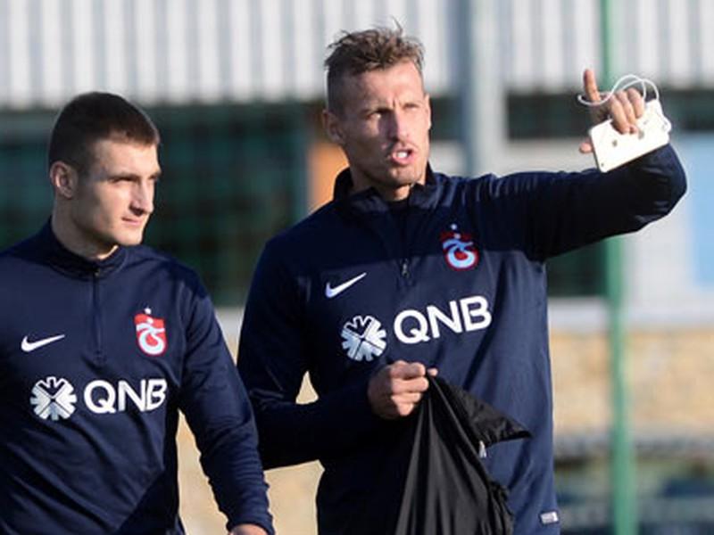 Matúš Bero a Ján Ďurica počas tréningu