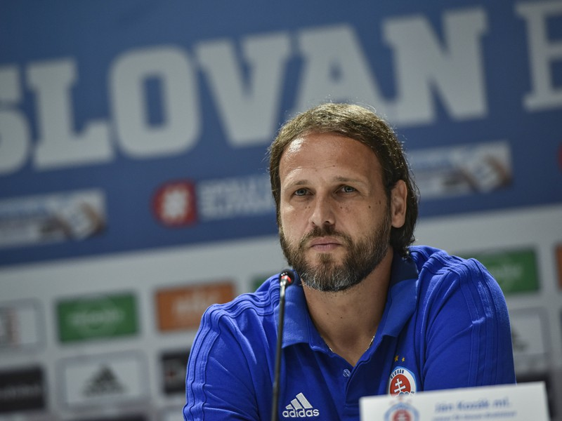 Na snímke tréner ŠK Slovan Bratislava Ján Kozák ml.
