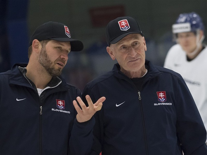 Ján Lašák a Craig Ramsay počas slovenského tréningu