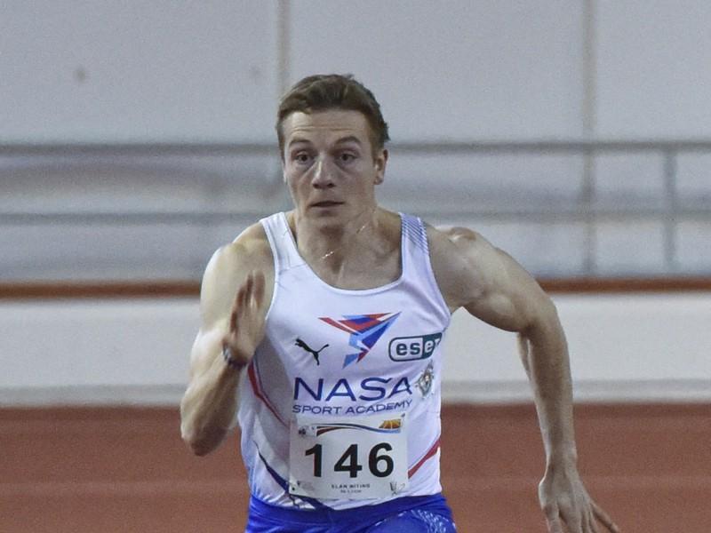 Na snímke slovenský šprintér Ján Volko počas 19. ročníka atletického mítingu v športovej hale Elán v Bratislave