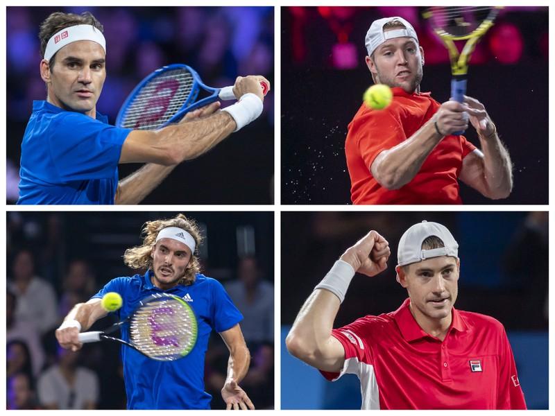 Roger Federer, Stefanos Tsitsipas – John Isner, Jack Sock