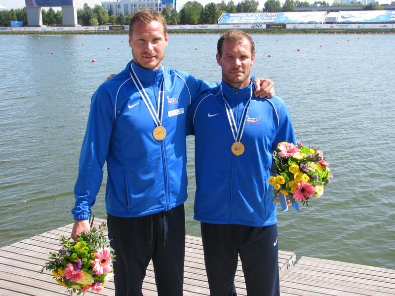 Erik Vlček a Juraj Tarr s moskovským zlatom