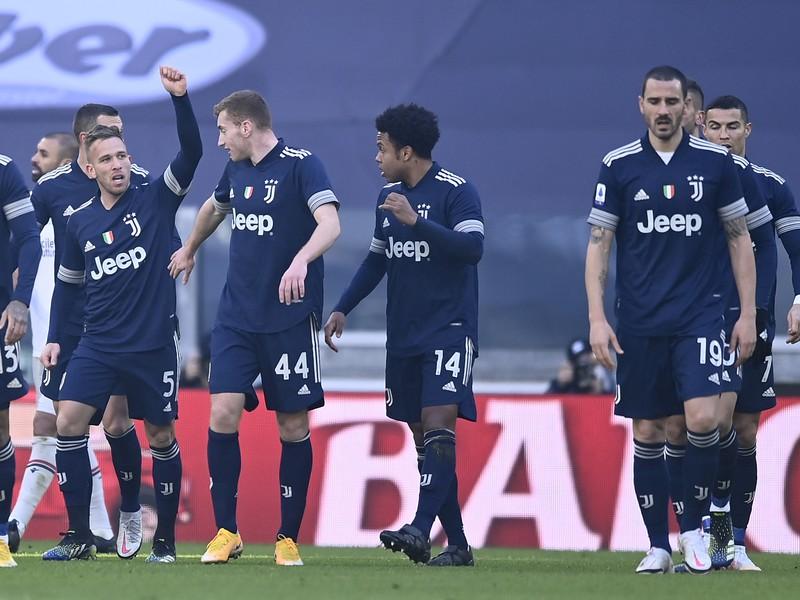 Radosť hráčov Juventusu
